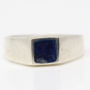 Jewelry - VINTAGE Sterling Silver Sodalite Inlay Ring 7.5